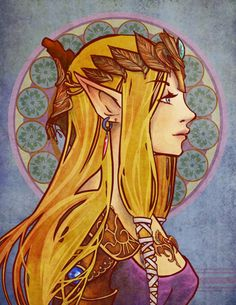 Zelda - by Kathy Yang   This would make a beautiful tattoo <3 I would love to cosplay this version as well.