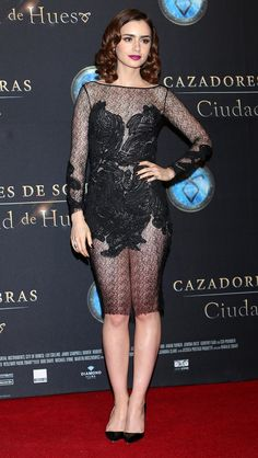 Channeling the classic black style of our favorite shadow hunters at the Mexico City Premier #TMIMovie