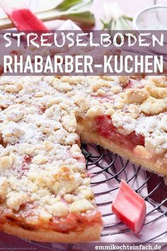 Crumble cake with rhubarb The simple recipe, because the cake bottom and . - Simple cake recipes - Crumble cake with rhubarb The simple recipe, because the cake bottom and . Health Breakfast, Breakfast Recipes, Dessert Recipes, Cake Recipes, Gentilly Cake Recipe, Rhubarb Cake, Rhubarb Crumble, Vegetarian Recipes, Healthy Recipes