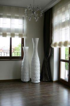 Adamaszek - dekoracje okien, firany, zasłony, rolety rzymskie, galeria zdjęć, projekty Vase, Curtains, Home Decor, Blinds, Decoration Home, Room Decor, Vases, Draping, Home Interior Design