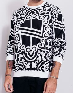 The Nemis Knights Logo Sweater is designed in a regular fit, with Nemis' black and white Knights print all-over. Shop Nemis menswear at PASAR now. Knight Logo, Quality Street, Stylish Mens Fashion, Fashion Labels, Black Sweaters, Christmas Sweaters, Street Wear, Menswear, Graphic Sweatshirt