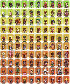 100 Hero oh Hero character sprites by *Neoriceisgood on deviantART