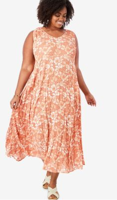 Plus Size Blouses, Plus Size Dresses, Comfy Dresses, Summer Dresses, Trendy Outfits, Trendy Clothing, Full Figured Women, Woman Within, Plus Size Women