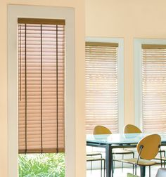 Levolor®️️ 2 Visions Faux Wood Blinds in Pecan Window Coverings, Window Treatments, Motorized Blinds, Faux Wood Blinds, High Humidity, Shades Blinds, Home Safety, Wood Colors, Real Wood