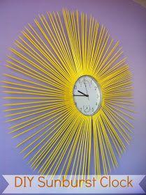 Cutie Booty Cakes: DIY Sunburst Clock