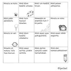 OpenIdeat: Meidän luokka! First Day Of School, Back To School, Finnish Language, Teaching Aids, Bingo, First Grade, Special Education, Teacher, Classroom