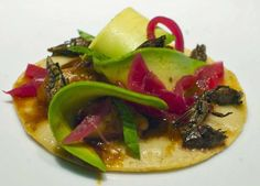 Chapulines (crickets) - Two bites is all it takes to finish off-the-menu cricket taco at Petty Cash.
