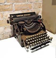 Rare Orga Privat Bingwerke Typewriter 1927-28 Antique by NoVeto