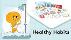 Healthy habits - activity box for toddlers Healthy Food List, Healthy Meals For Two, Easy Healthy Dinners, Healthy Chicken, Healthy Habits, Healthy Dinner Recipes, How To Stay Healthy, Healthy Sleep, Healthy Drinks