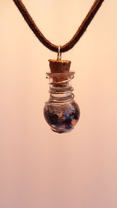 Midnight Sky, Glass Vials, Star Necklace, Lapis Lazuli, Iridescent, Mystic, Opal, My Etsy Shop, Sterling Silver