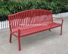 Metal outdoor garden bench