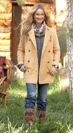 Weathered Leather Peacoat - Shop by Outfit   Robert Redford's Sundance Catalog
