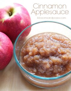 Make cinnamon applesauce in your crockpot! This recipe is sugar free, gluten free, and paleo.