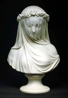 Cambridge. Fitzwilliam Museum: la sposa (Raffaele Monti, 1873).