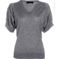 Derek Lam Flutter Sleeve Sweater - Grey #fashion #womensfashion