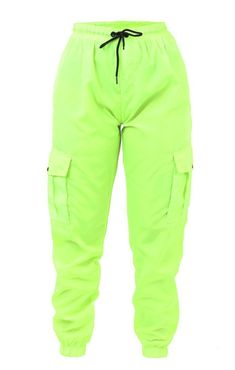 Lime Green Outfits, Lime Green Pants, Green Cargo Pants, Orange Pants, Neon Party Outfits, Rave Party Outfit, Camo Pants Outfit, Joggers Outfit, Neon Pants