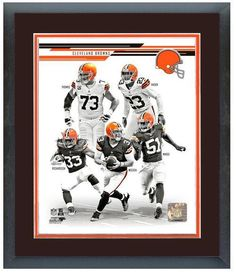 """2013 Cleveland Browns - 11"""" x 14"""" Framed & Matted Team Composite Photo"""