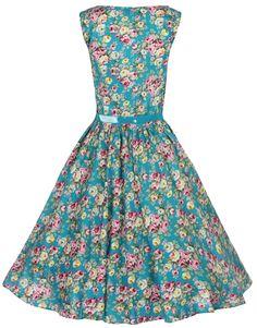 Lindy Bop Women's Audrey Hepburn 1950's Rockabilly Dress at Amazon Women's Clothing store: