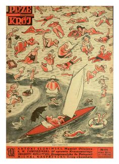 Cover of Przekrój magazine. Issue dated July 11, 1948.