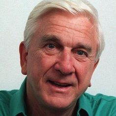 """Leslie Nielsen, 1926 - 2010 Died at age 84 of pneumonia.He was born in Regina, Saskatchewan. He is best known for his comedic role in the movie """"Airplane"""" (""""Surely you can't be serious."""" """"I am serious& and don't call me Shirley""""). Hollywood Stars, Classic Hollywood, Old Hollywood, Leslie Nielsen, Tv Star, Actrices Hollywood, Celebs, Celebrities, Famous Faces"""