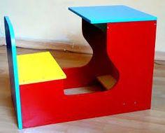 Resultado de imagen para pupitres de madera para jardin infantiles