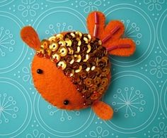 cute. goldfish. sequins. toy. ornament.DIY | RP » cool felt fish