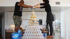 Super Bowl Beer Tower - Tipsy Bartender