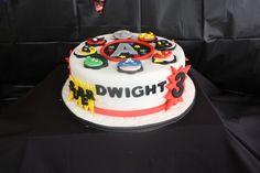 Cake from a Superhero Party #superhero #cake