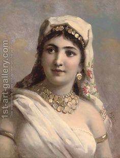 Image issue du site Web http://www.1st-art-gallery.com/thumbnail/276904/1/The-Gypsy-Girl.jpg