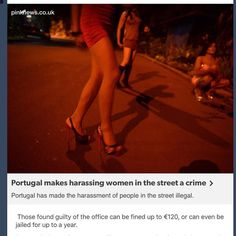 This neeeeeeeds to happen worldwide. In so many ways the manner of street harrassment is utterly dehumanizing: wolf-whistles suggestive gestures sexual comments groping following women around. It leaves women feeling less than human. It's draining. It's scary. It takes a toll. And it is unfair that the perpetrator gets away with a laugh and a twisted sense of satisfaction. #feminist #patriarchy #women#womensrights #catcalling#harrassment#sexism #misogyny #sexualharrassment…