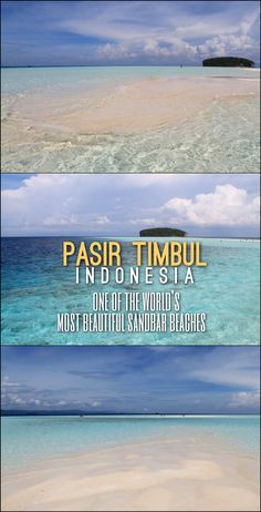 Pasir Timbul, in Raja Ampat, West Papua, is one of the most stunning sand bar beaches in the world -- a definitely Indonesia highlight!
