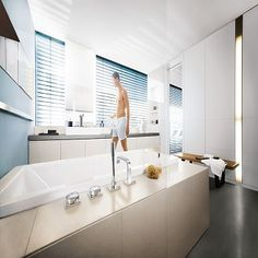 Allure F-digital Flexibility for your GROHE SPA® Convenient and discreet effortless and intuitive to use. Allure F-digital takes the faucet design in a new direction. Kitchen Mixer Taps, Bathroom Taps, Shower Heads, Interior Styling, Teak, Bathtub, Luxury, Digital, Master Bath