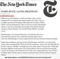 Laura 1982, debut concert Bottom Line club, New York.