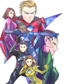 Cool Artwork! Power Rangers Movie 2017