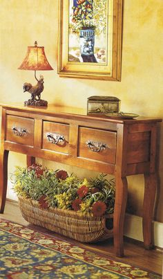 basket and console (French Country Living, Mars 2004)