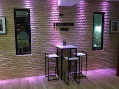 Bar ladrillos luces de led