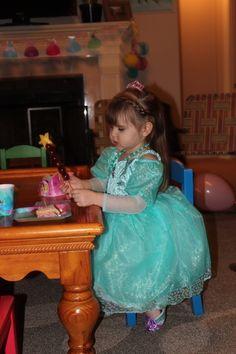Birthday Girl Eating a Wand