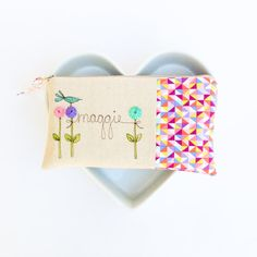 geometric personalized bridesmaid clutches