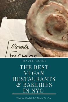The Best Vegan Restaurants & Bakeries in NYC. Click though for the information on where to find great vegan food in New York City! Restaurants In Nyc, Best Vegan Restaurants, Bakery New York, New York Food, Vegan Sweets, Vegan Food, Vegan Recipes, Vegan Baking, Copycat Recipes
