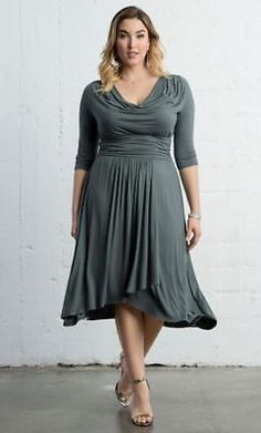 f28d573db32b1 New KIYONNA $118 Draped In Class Wrap Dress Castle Rock LANE BRYANT Plus 4  26/28