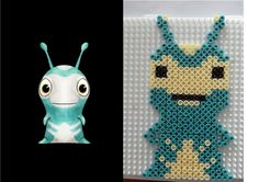 Hama beads Perles Hama Frightgeist slug Slugterra Hama Beads, 8th Birthday, Plastic Canvas, Pixel Art, Pokemon, Kawaii, Joy, Christmas Ornaments, Type