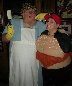 Sloppy Joe & Lunch Lady Couples Halloween Costume, Saturday Night Live SNL. Chris Farley, Kevin Nealon, Adam Sandler. TrickyMcVomit