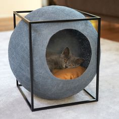 20 Cool Cat Beds For Your Furry Friend - Kitties - Katzen Cool Cat Beds, Cool Cats, Diy Cat Bed, Ideal Toys, Cat Room, Pet Furniture, Furniture Design, Furniture Makeover, Furniture Showroom