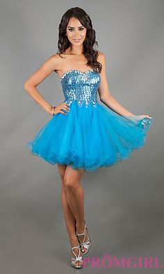 Short Prom Dress Style: DQ-8416 Detail Image 3