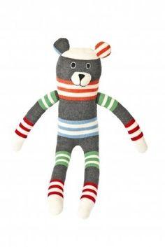 Anne Claire Petit Striped Teddy Soft Toy by Anne Claire Petit, http://www.amazon.co.uk/dp/B00A6J8A8O/ref=cm_sw_r_pi_dp_P5Kisb1RJ3HAE