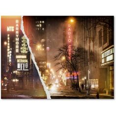Trademark Fine Art Theater in Snow Canvas Art by Philippe Hugonnard, Size: 18 x 24, Multicolor