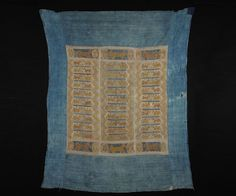 Tujia Blanket. Tujia Ethnic Group, Southwest China, Late 19th Century  Cotton and silk with natural dyes