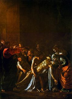 "#Caravaggio's Resurrection of #Lazarus, 1609 #Messina, Regional Museum ""Maria Accascina"""