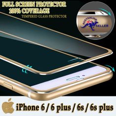 FULL EDGE TO EDGE GENUINE TEMPERED GLASS SCREEN PROTECTOR FOR IPHONE 6/S PLUS