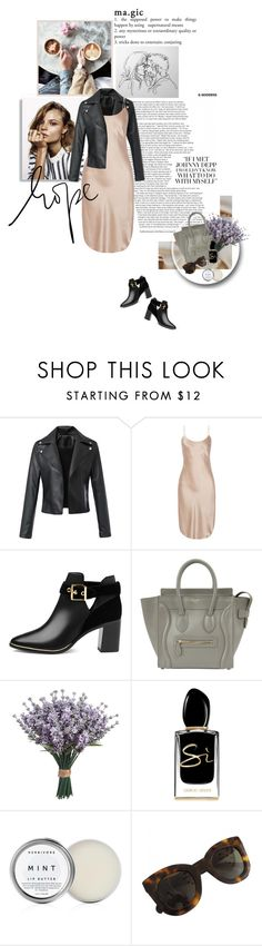 """magic in the air."" by middayxmuse ❤ liked on Polyvore featuring Magdalena Frackowiak, Maiyet, Ted Baker, CÉLINE, Giorgio Armani and Herbivore"